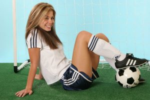 Footblall Girl Sexy And Sporty